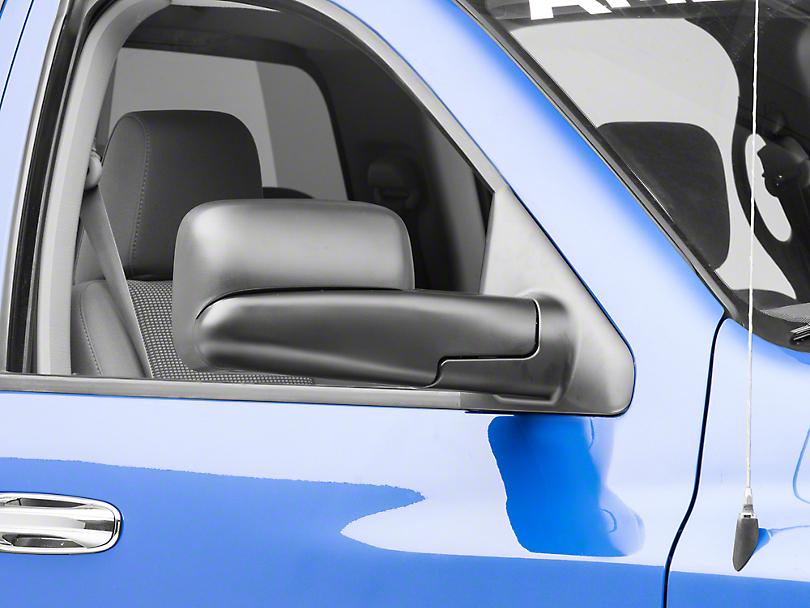 OPR Manual Foldaway Flip-Up Towing Mirror - Textured Black (06-08 RAM 1500)