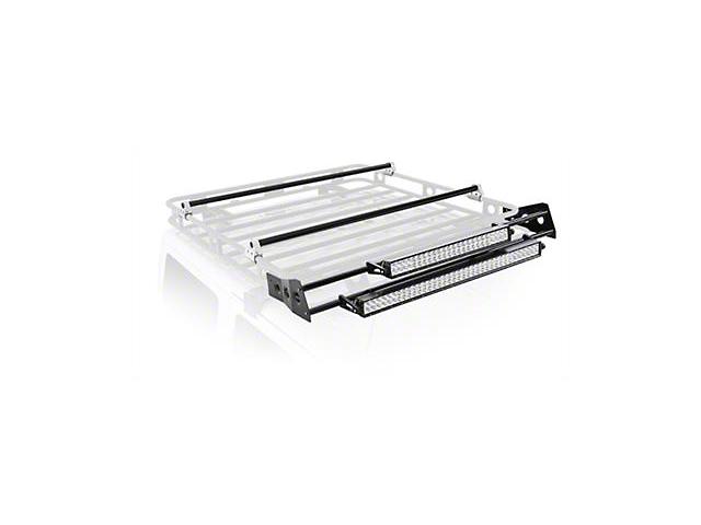 Smittybilt Defender Roof Rack LED Light Bar Mount Kit; 4-Foot