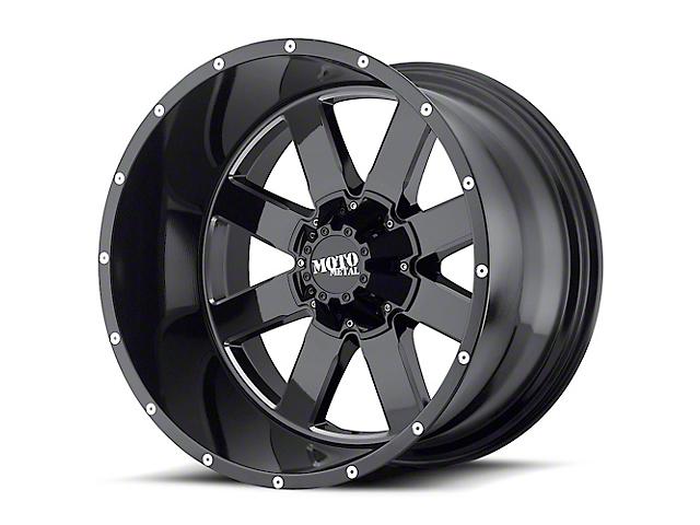 Moto Metal MO962 Gloss Black Milled 6-Lug Wheel; 20x9; 0mm Offset (04-08 F-150)