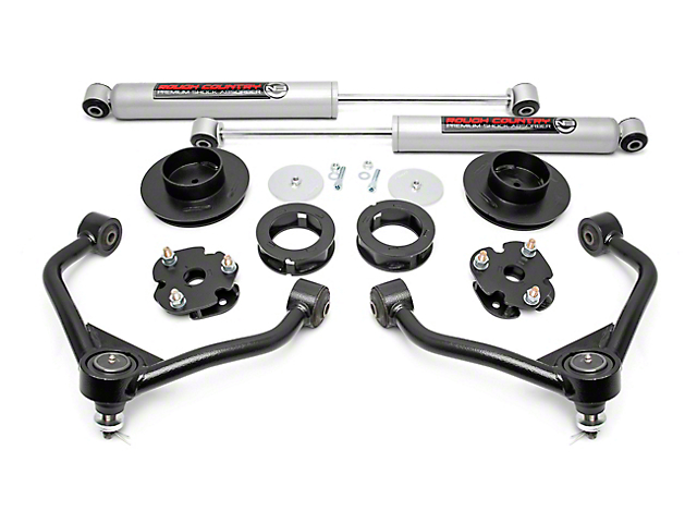 Rough Country 3 Inch Bolt-On Suspension Lift Kit w/ Premium N3 Shocks (12-18 4WD RAM 1500 w/o Air Ride)