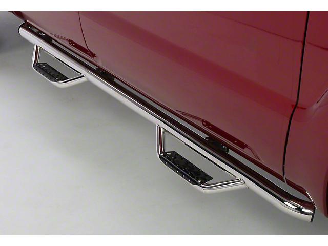 Go Rhino Dominator D2 Cab Length Side Step Bars - Stainless Steel (02-08 RAM 1500 Quad Cab)