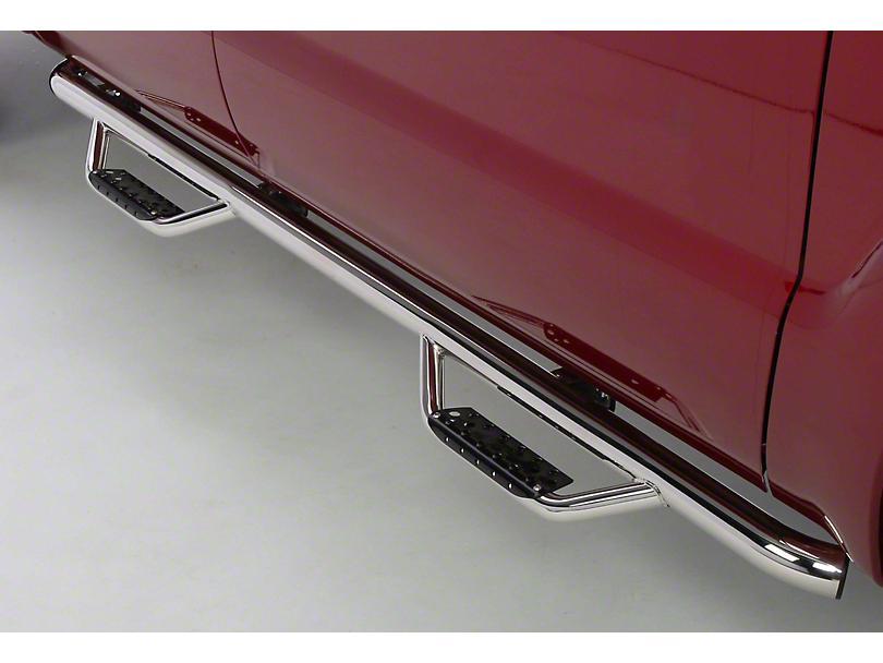 Go Rhino Dominator D2 Cab Length Side Step Bars - Stainless Steel (06-08 RAM 1500 Mega Cab)