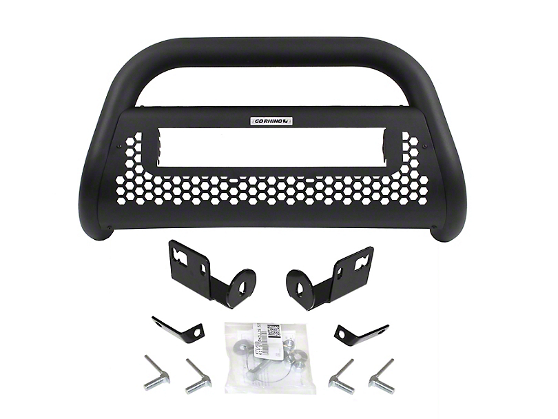 Go Rhino RC2 LR Bull Bar w/ 20 in. LED Light Bar Mounting Brackets - Textured Black (06-08 RAM 1500)