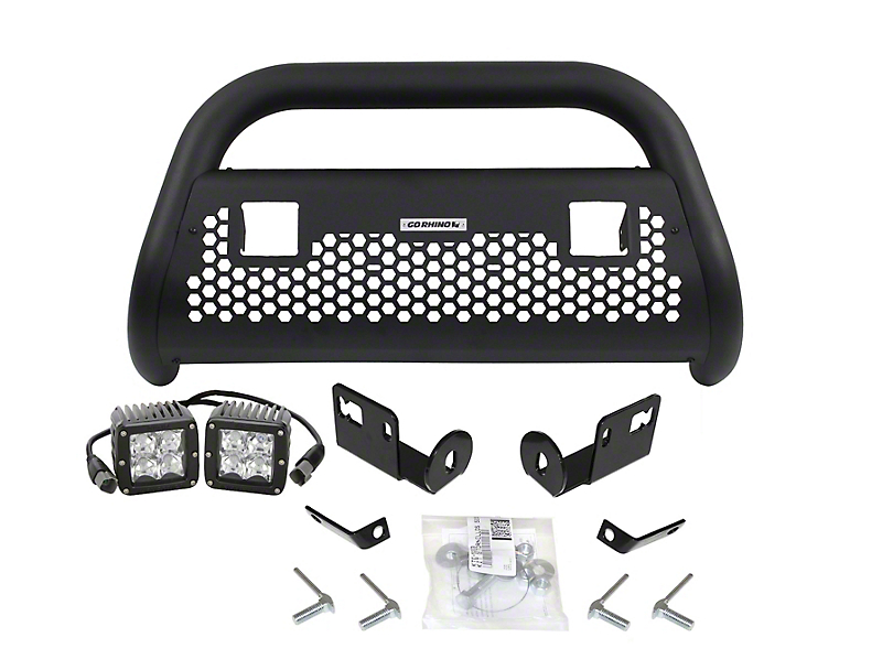Go Rhino RC2 LR Bull Bar w/ LED Lights - Textured Black (06-08 RAM 1500)