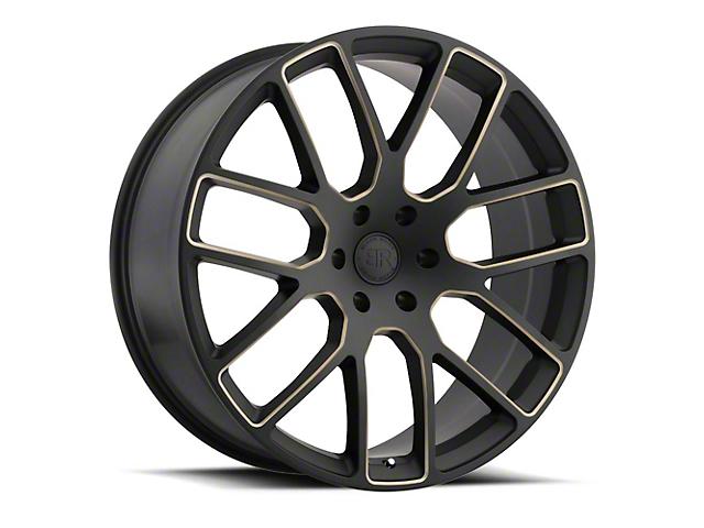 Black Rhino Kunene Matte Black Dart Tint Milled 5-Lug Wheel; 22x9.5; 20mm Offset (09-18 RAM 1500)