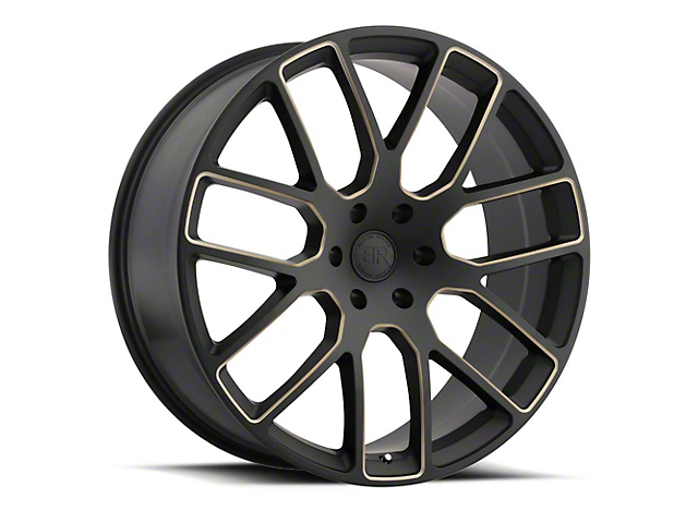 Black Rhino Kunene Matte Black Dart Tint Milled 5-Lug Wheel; 24x10; 25mm Offset (09-18 RAM 1500)