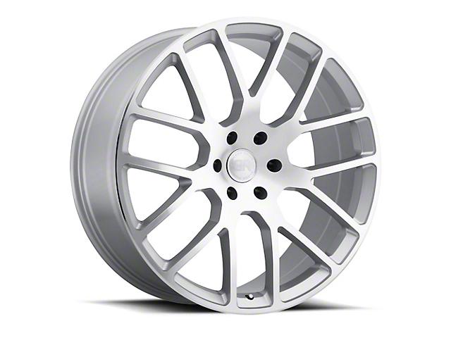 Black Rhino Kunene Silver 5-Lug Wheel; 24x10; 25mm Offset (09-18 RAM 1500)