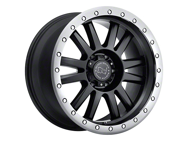 Black Rhino Tanay Matte Black w/ Graphite Lip 5-Lug Wheel; 17x9; 0mm Offset (09-18 RAM 1500)