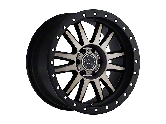 Black Rhino Tanay Dark Tint Matte Black Machined 8-Lug Wheel; 22x10; 0mm Offset (06-08 RAM 1500 Mega Cab)