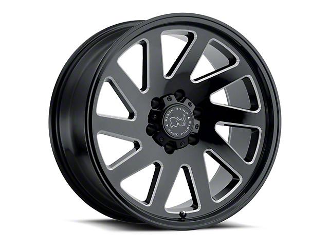 Black Rhino Thrust Gloss Black Milled 8-Lug Wheel; 22x12; -44mm Offset (06-08 RAM 1500 Mega Cab)