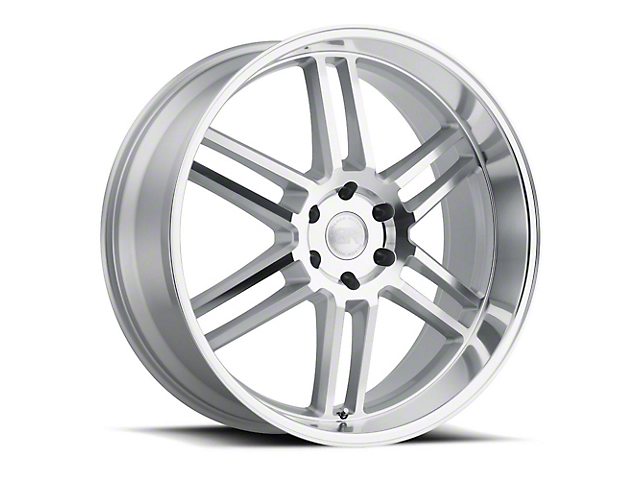 Black Rhino Katavi Silver 6-Lug Wheel; 24x10; 20mm Offset (19-21 RAM 1500)