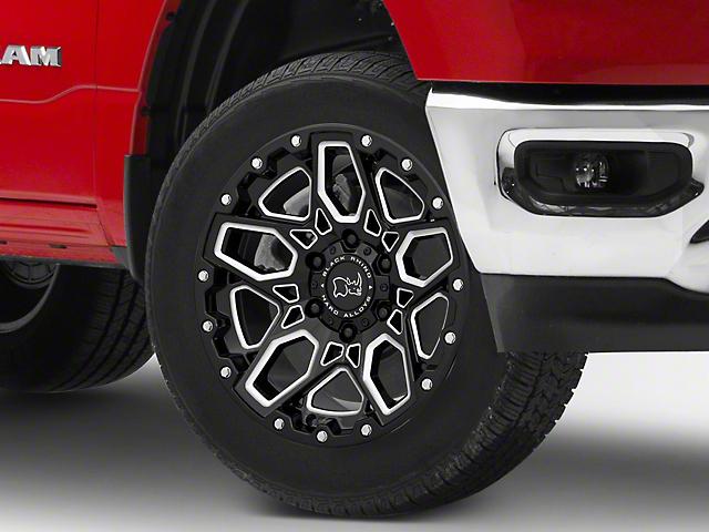 Black Rhino Shrapnel Gloss Black Milled 6-Lug Wheel; 20x9.5; 12mm Offset (19-21 RAM 1500)