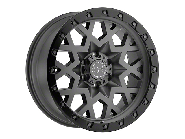 Black Rhino Sprocket Matte Gunmetal with Gloss Black Face 6-Lug Wheel; 17x9.5; -18mm Offset (19-21 RAM 1500)