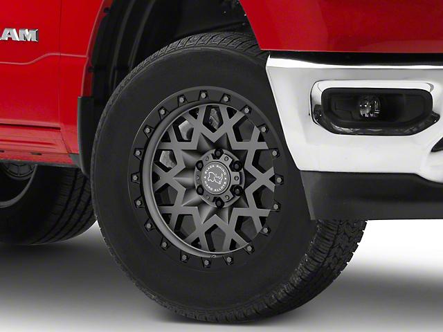 Black Rhino Sprocket Matte Gunmetal with Gloss Black Face 6-Lug Wheel; 18x9.5; -18mm Offset (19-21 RAM 1500)