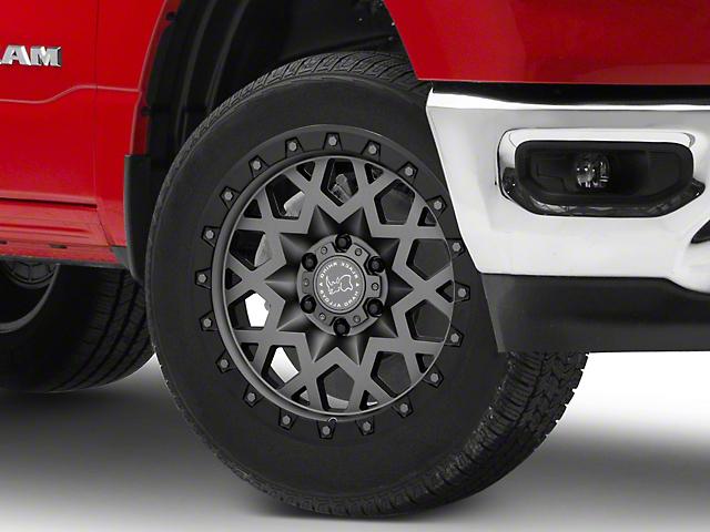 Black Rhino Sprocket Matte Gunmetal with Gloss Black Face 6-Lug Wheel; 20x9.5; -18mm Offset (19-21 RAM 1500)