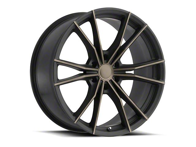 Black Rhino Zion Dark Tint Matte Black Machined 6-Lug Wheel; 22x9.5; 20mm Offset (19-20 RAM 1500)