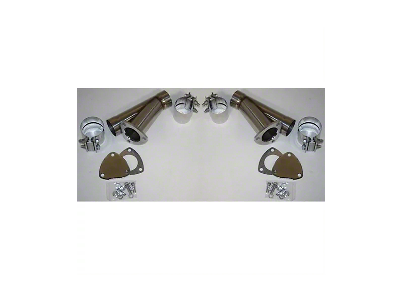 Granatelli Motor Sports Manual Exhaust Cutout; 2.50-Inch; Pair (Universal Fitment)