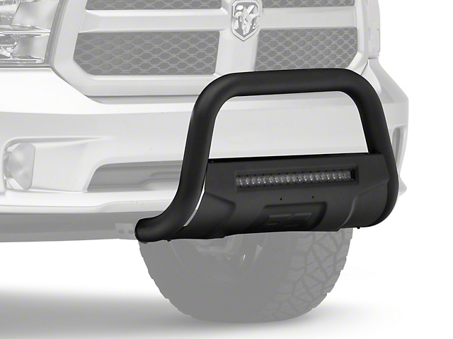 Rough Country Bull Bar with LED Light Bar; Black (09-18 RAM 1500, Excluding Rebel)