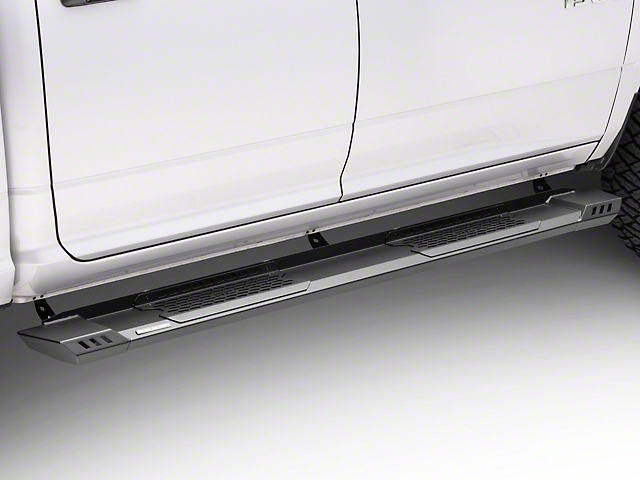 Rough Country Cab Length HD2 Running Boards; Black (09-18 RAM 1500 Crew Cab)