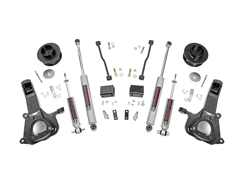 Rough Country 4-Inch Suspension Lift Kit (09-18 2WD RAM 1500)