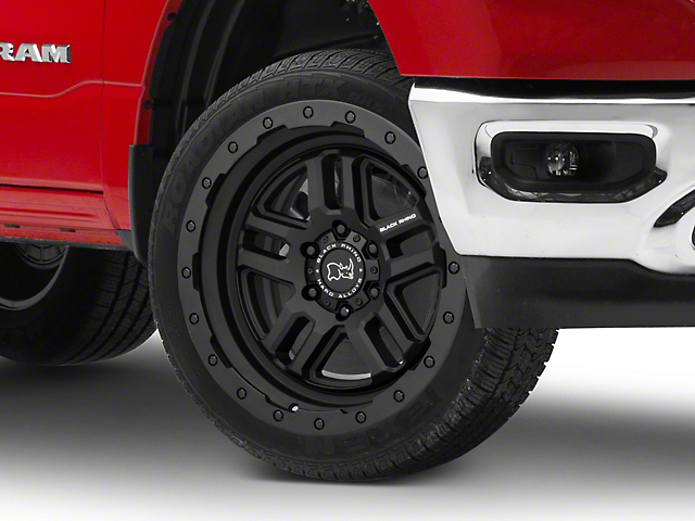 Black Rhino Barstow Textured Matte Black 6-Lug Wheel; 20x9.5; 12mm Offset (19-21 RAM 1500)
