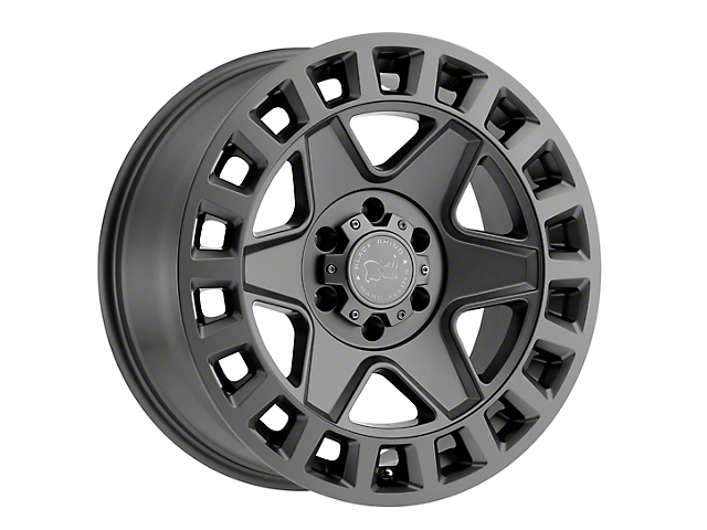Black Rhino York Matte Gunmetal 6-Lug Wheel; 17x9 (19-20 RAM 1500)