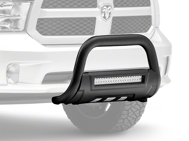 Barricade HD Bull Bar with Skid Plate and 20-Inch LED Light Bar; Black (09-18 RAM 1500, Excluding Rebel)