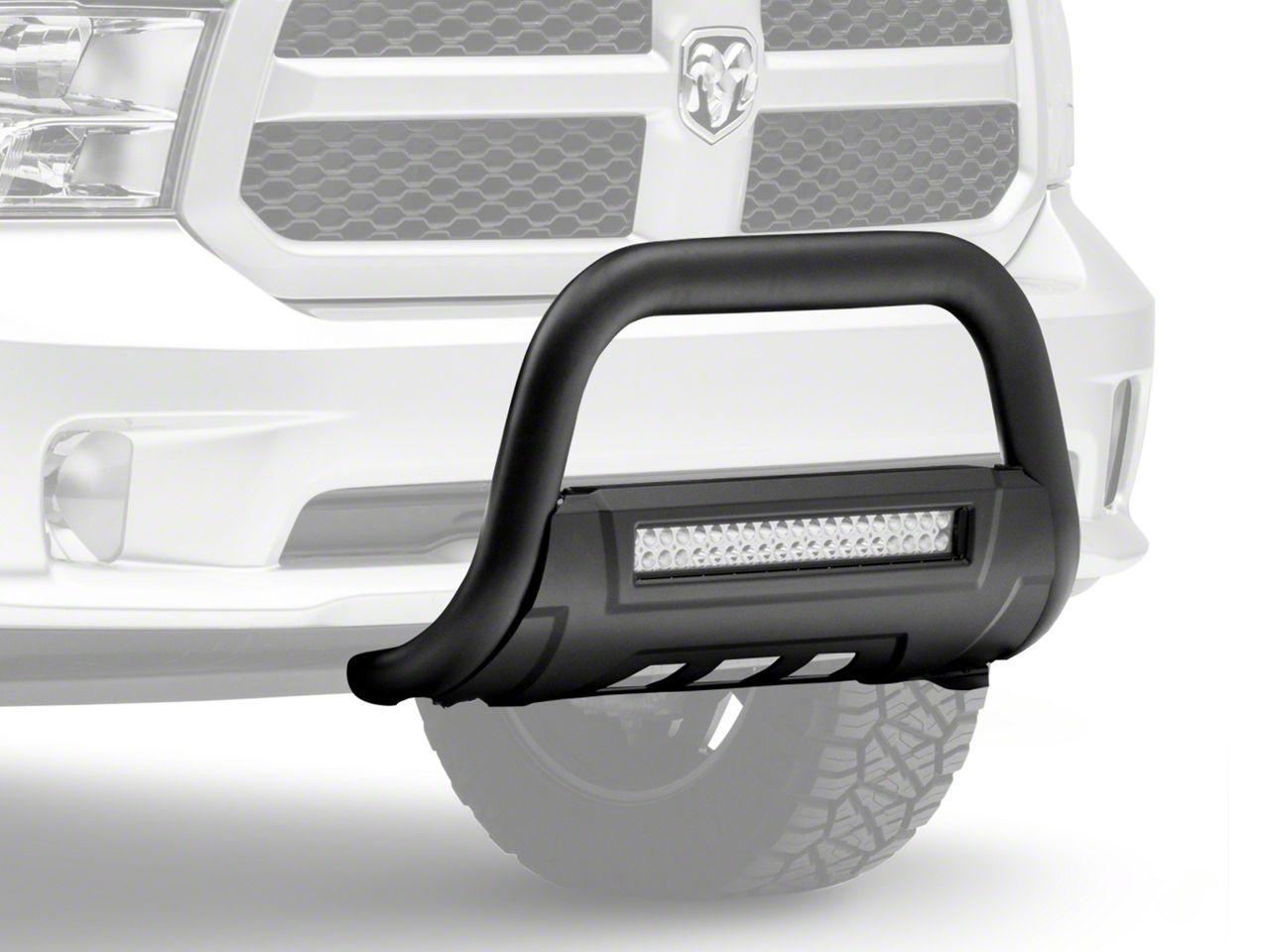 2008-18 Chrome Fits Ram 1500 Future Trucks Bull Bar High Grade Steel Construction with Skid Plate /& LED Light