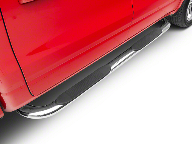 Duratrek 4 in. Oval Bent End Side Step Bars - Stainless Steel (2019 RAM 1500 Crew Cab)