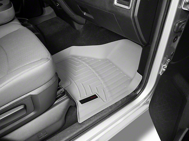 Weathertech DigitalFit Front and Rear Floor Liners; Gray (09-18 RAM 1500 Crew Cab)