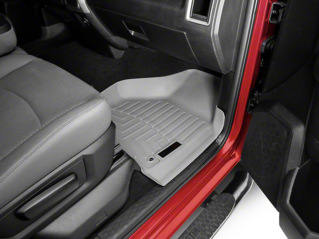 Weathertech DigitalFit Front and Rear Floor Liners; Gray (09-18 RAM 1500 Quad Cab)
