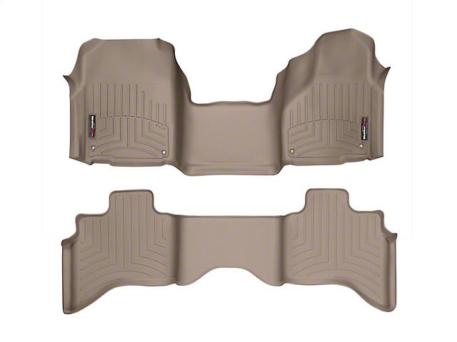 Weathertech DigitalFit Front Over the Hump & Rear Floor Liners - Tan (12-18 RAM 1500 Quad Cab)