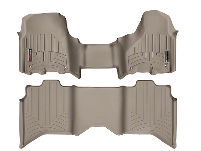 Weathertech DigitalFit Front Over the Hump & Rear Floor Liners - Tan (12-18 RAM 1500 Crew Cab)