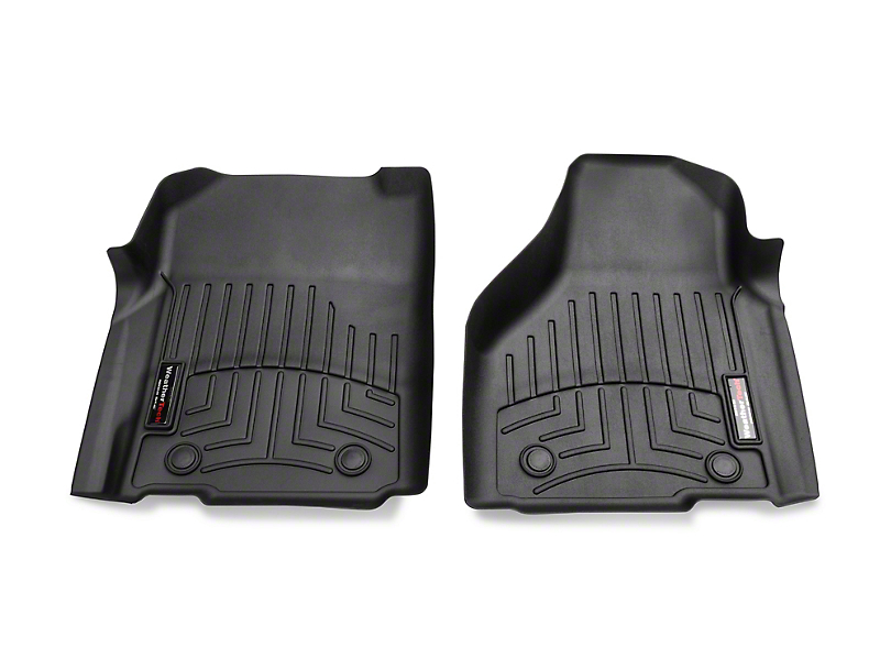 Weathertech DigitalFit Front Floor Liners - Black (12-18 RAM 1500 w/ Vinyl Floors)