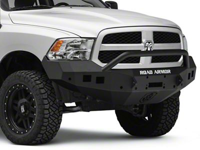 Road Armor Ram Stealth Winch Front Bumper W Pre Runner Guard Satin Black 413f4b 13 18 Ram 1500 Excluding Rebel