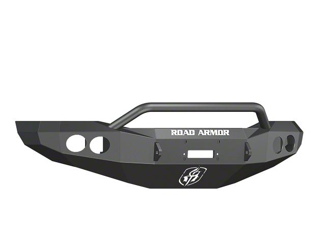 Road Armor Stealth Winch Front Bumper w/ Pre-Runner Guard & Round Light Mounts - Satin Black (06-08 RAM 1500)