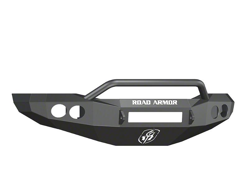 Road Armor Stealth Non-Winch Front Bumper w/ Pre-Runner Guard & Round Light Mounts - Satin Black (06-08 RAM 1500)