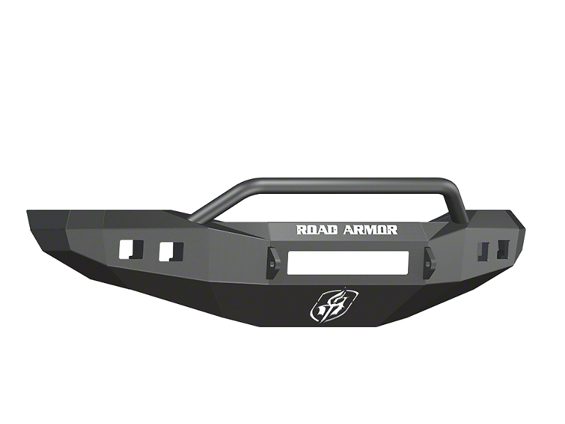 Road Armor Stealth Non-Winch Front Bumper w/ Pre-Runner Guard & Square Light Mounts - Satin Black (06-08 RAM 1500)