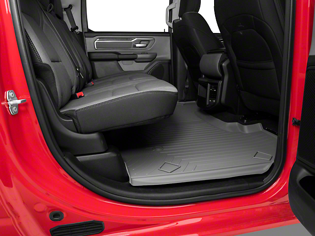 Weathertech DigitalFit Rear Floor Liner; Gray (19-20 RAM 1500 Crew Cab w/o Rear Underseat Storage)