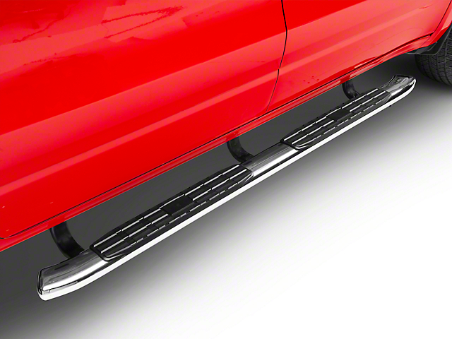 Barricade Pinnacle 4 in  Oval Bent End Side Step Bars - Stainless Steel  (2019 RAM 1500 Quad Cab)