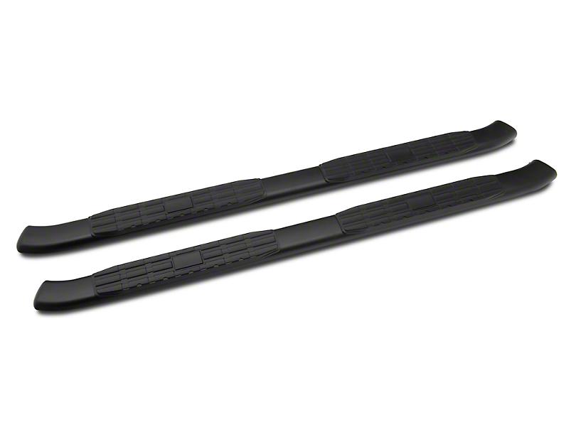 Barricade Pinnacle 4-Inch Oval Bent End Side Step Bars; Black (19-20 RAM 1500 Quad Cab)