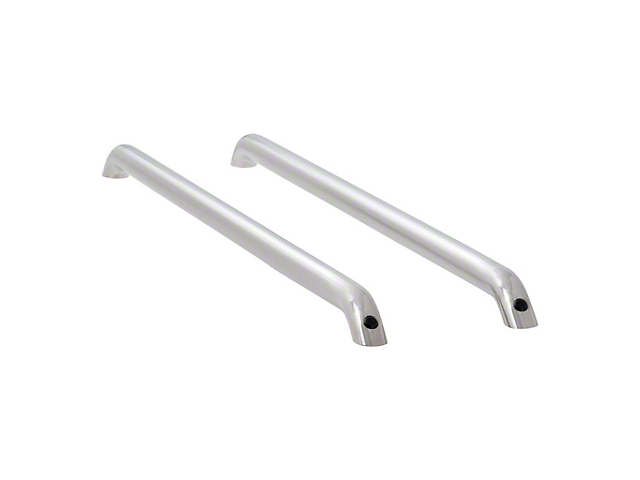 Tubular Bed Rails; Polished Stainless (09-18 RAM 1500 w/ 5.7 ft. Box)
