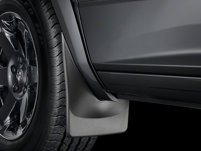 Weathertech No Drill Front Mud Flaps - Black (2019 RAM 1500 w/ OE Flares)