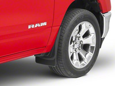 Weathertech Front No-Drill MudFlaps - Black (2019 RAM 1500 w/o OE Flares)