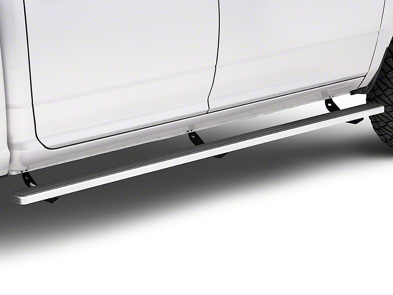 4 in. iStep Running Boards - Hairline Silver (09-18 RAM 1500 Crew Cab)