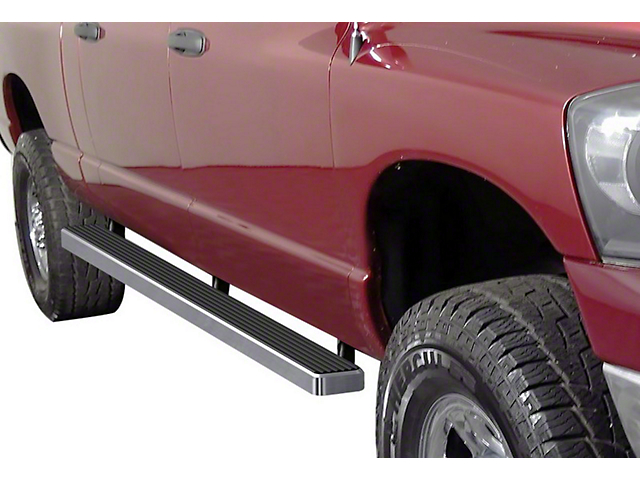4-Inch iStep Running Boards; Hairline Silver (06-08 RAM 1500 Mega Cab)