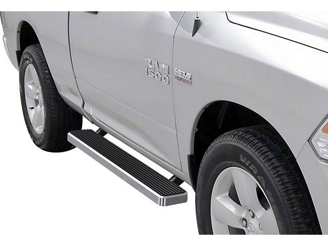 5-Inch iStep Running Boards; Hairline Silver (09-18 RAM 1500 Regular Cab)