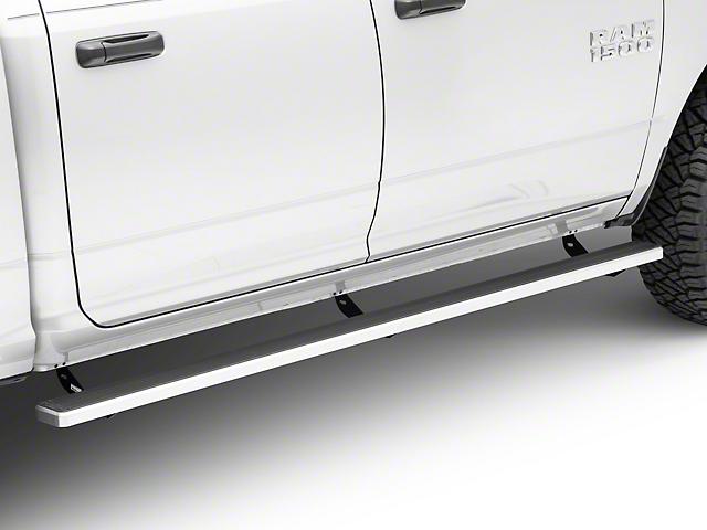 5-Inch iStep Running Boards; Hairline Silver (09-18 RAM 1500 Crew Cab)