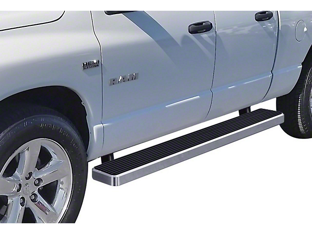 6-Inch iStep Running Boards; Hairline Silver (02-08 RAM 1500 Quad Cab)