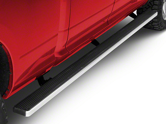 5-Inch iStep Wheel-to-Wheel Running Boards; Hairline Silver (09-18 RAM 1500 Quad Cab)